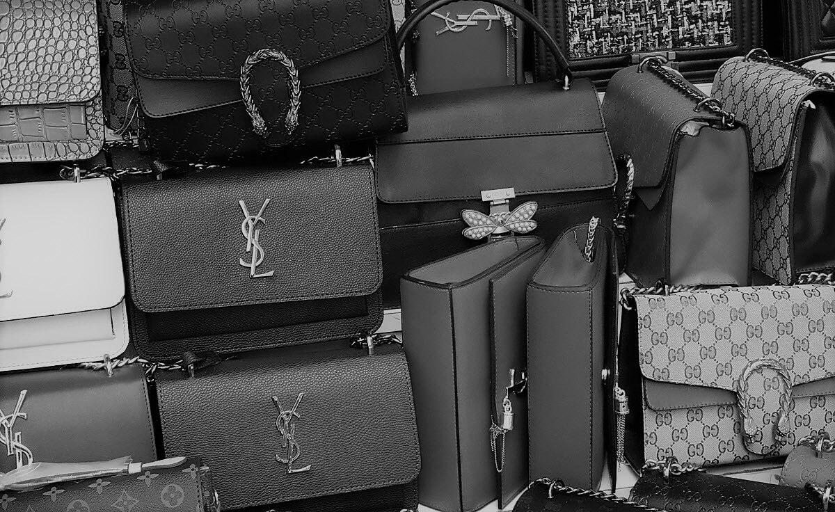 Large quantity of fake handbags