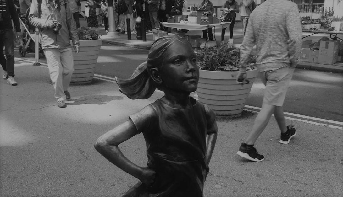 Fearless Girl bronze sculpture